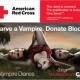 Le don du sang pour promouvoir The Vampire Diaries