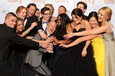 L'équipe de Glee autour de son créateur Ryan Murphy