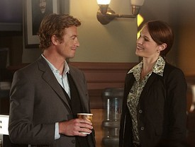 Simon Baker et Amanda Righetti