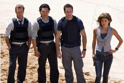 L'équipe de Hawaii Five-O sur le tournage du pilote