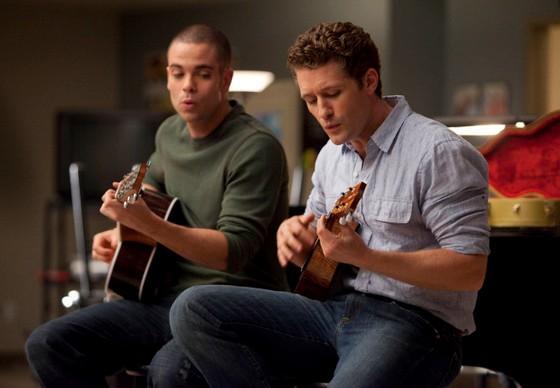 Mark Salling et Matthew Morrison (Glee)