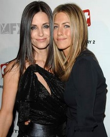 Courteney Cox et Jennifer Aniston