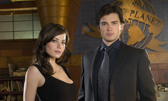 Erica Durance et Tom Welling (Smallville)