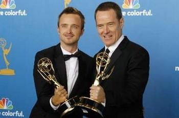 Aaron Paul et Bryan Cranston (Breaking Bad)