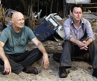 Terry O'Quinn et Michael Emerson dans Lost